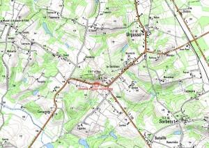 Carte des travaux de réparation du réseau d'eau d'Arblade-le Haut