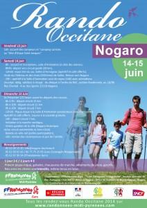 Programme Randonnée Occitane du Gers les 14 et 15 Juin à Nogaro