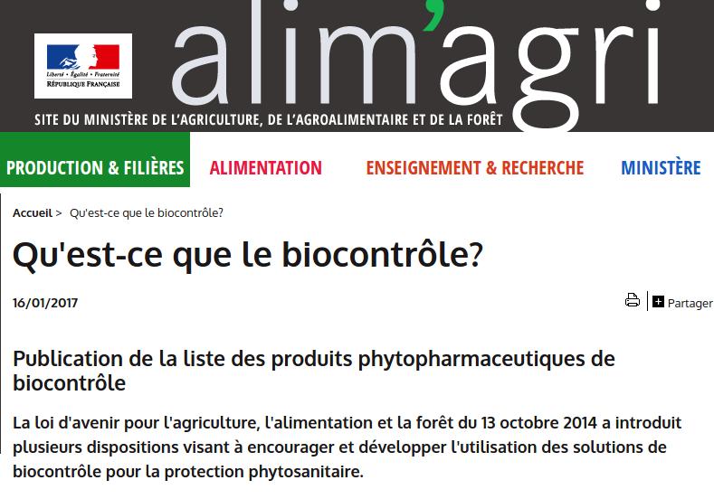 Qu'est-ce que le biocontrôle?