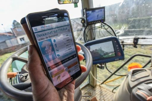 La station météo agricole individuelle permet d'avoir la météo de sa parcelle en temps réel sur son portable