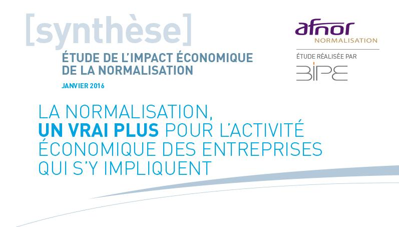 Entête de l'étude AFNOR BIPE sur l'apport des normes à la croissance économique des entreprises.