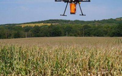 L'épandage par drone testé dans le Gers