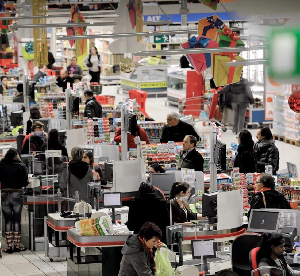 Caisses de supermarché