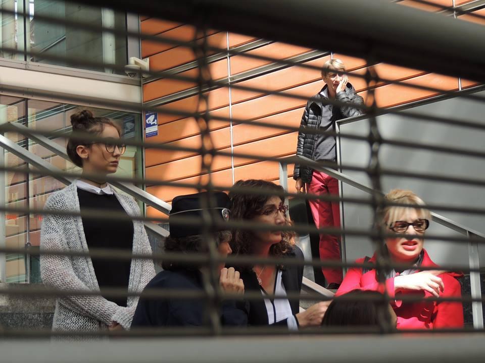 Céline Boussié avec Marie-Laure Darrigade(à droite), oratrice nationale Handicap - France Insoumise au Tribunal de Toulouse
