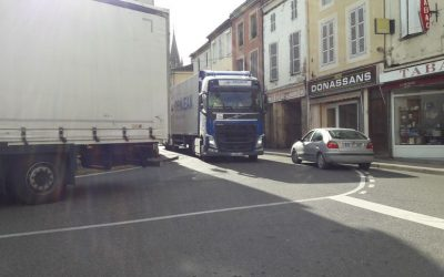 Nogaro : une manifestation pour protester contre le flot de camions